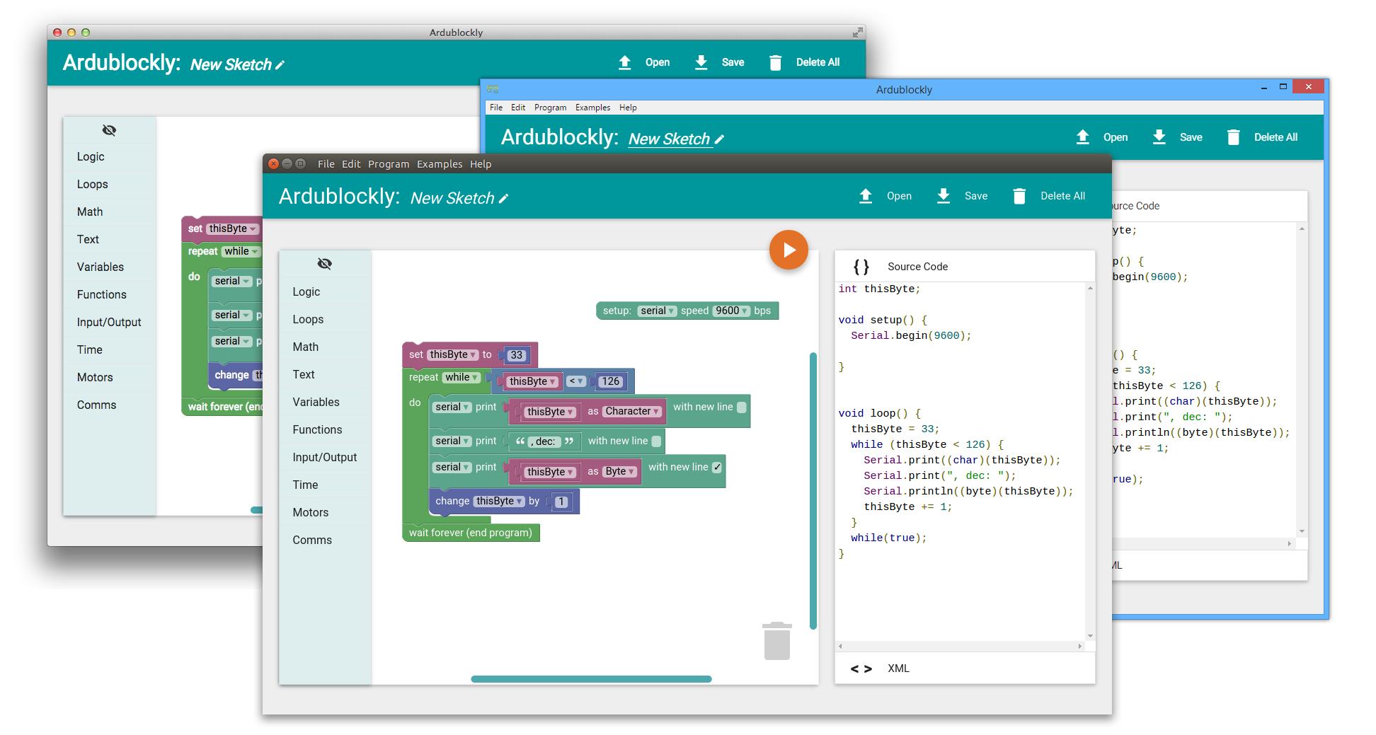 Ardublockly desktop program screenshot