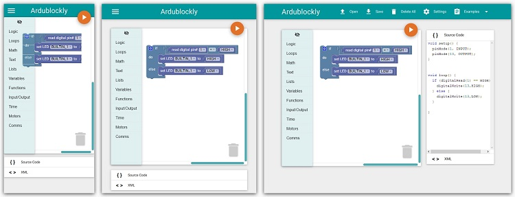 Ardublockly - Embedded Log